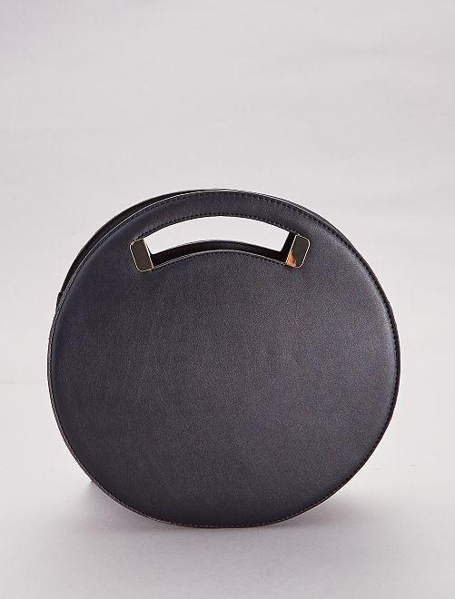 Sac rond avec anses et bandoulière                             noir