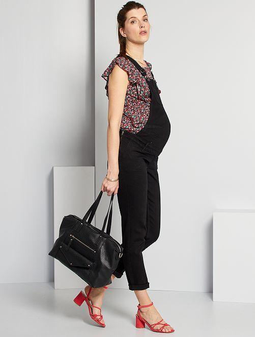Salopette de maternité éco-conçu                                             noir