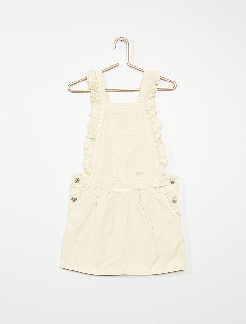 Salopette robe                                                     blanc