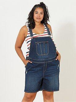 Grande taille femme - Salopette short en denim - Kiabi