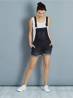Pantacourt, short - Salopette short en denim