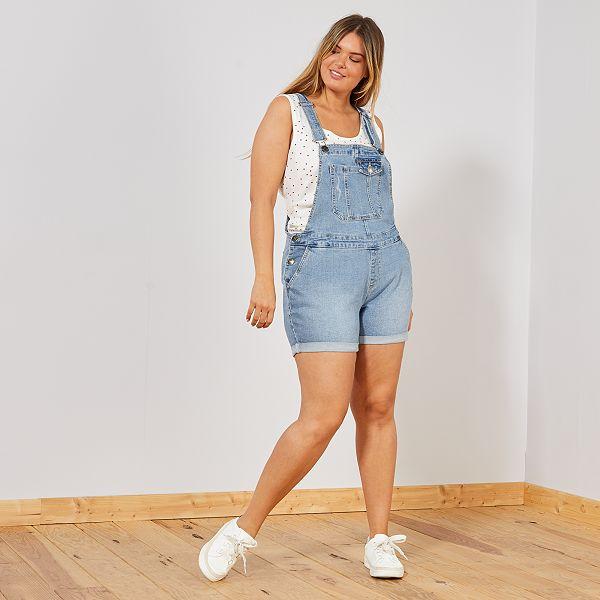 sélectionner pour authentique qualité de la marque comment commander Salopette short en jean