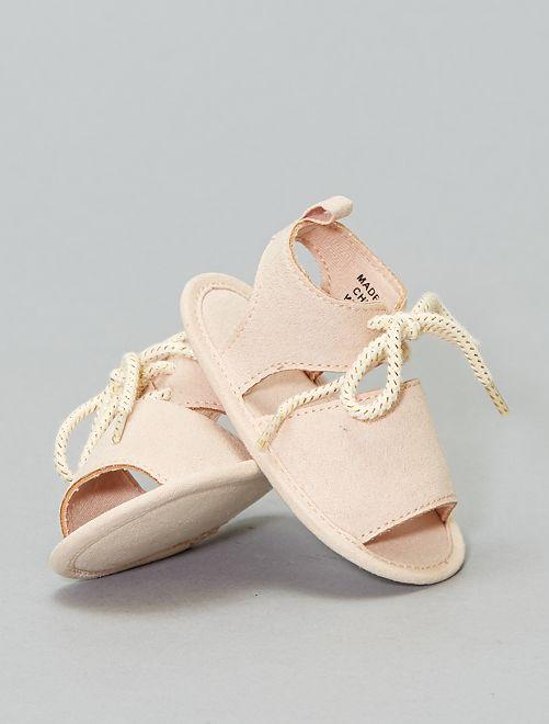 Sandale en suédine                             beige rosé Bébé fille