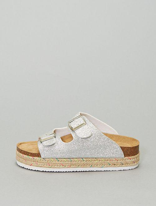 Sandales à boucles                                                     argent