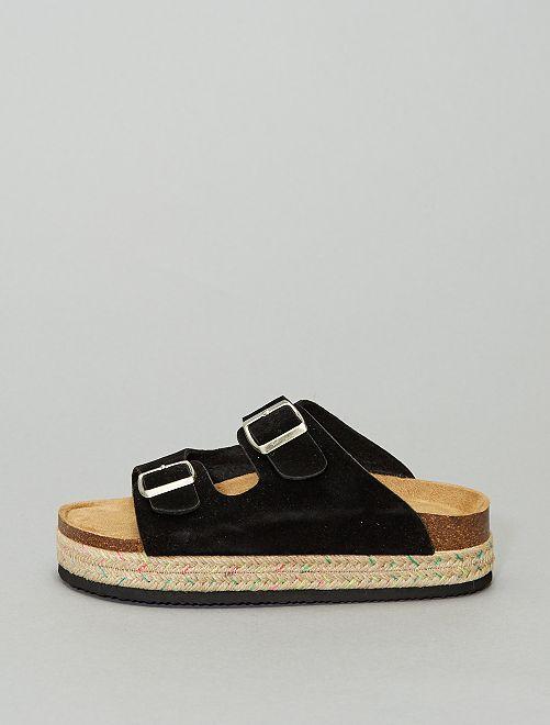 Sandales à boucles                                                     noir
