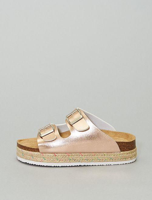Sandales à boucles                                                     rose