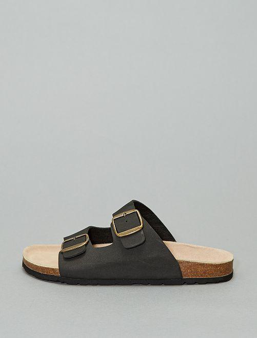 Sandales à brides réglables                             noir