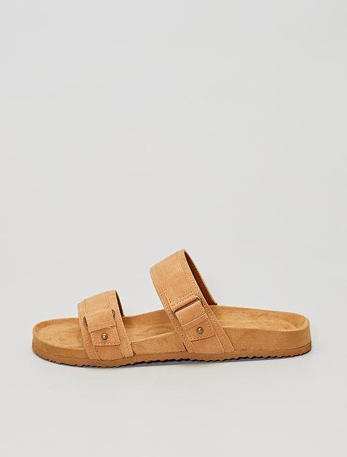 Sandales à double brides                                         brun