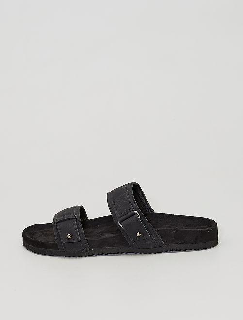 Sandales à double brides                                         noir