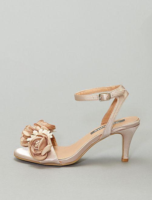 Sandales à fleurs                                                     beige foncé