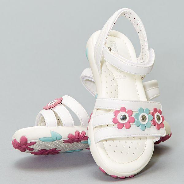 Sandales Fille /à Fleurs