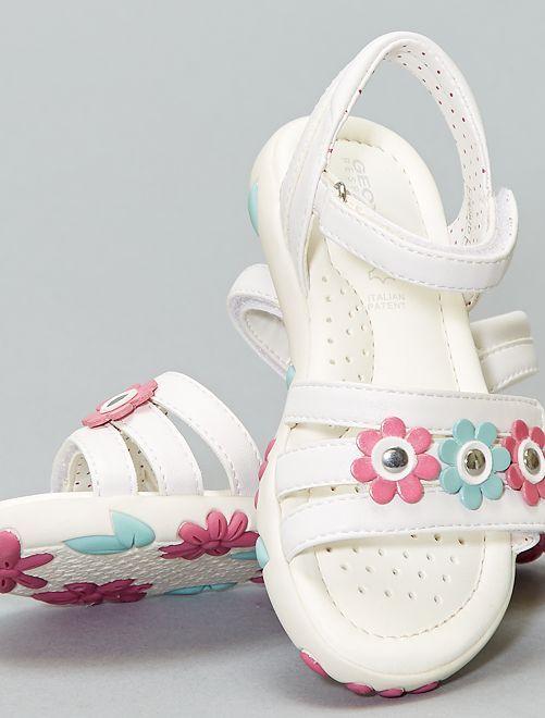 Sandales à fleurs 'Geox'                             blanc