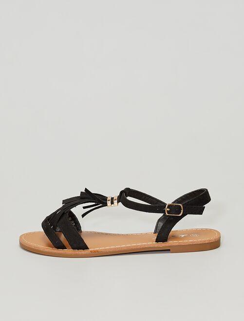Sandales à franges                                                                 noir