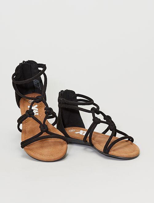 Sandales à lanières                                         noir