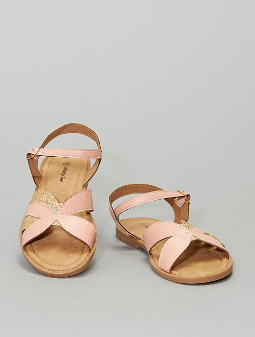 Sandales à paillettes                             rose