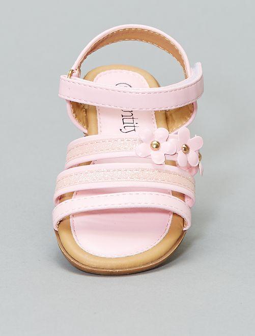 Sandales à paillettes                             rose Fille