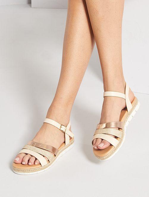 Sandales à plate forme                             beige