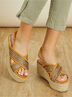 Chaussures femme - Sandales à plateformes - Kiabi