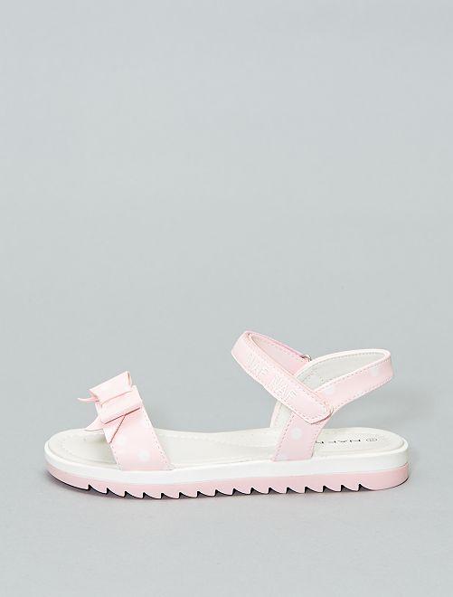 Sandales à pois 'Naf Naf'                             rose Fille