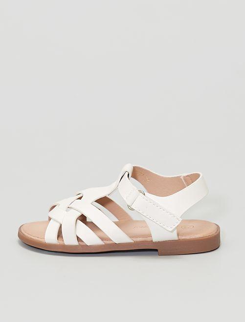 Sandales à scratch                                         blanc