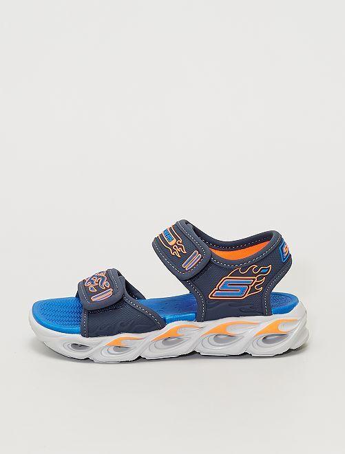 Sandales à scratch                             bleu