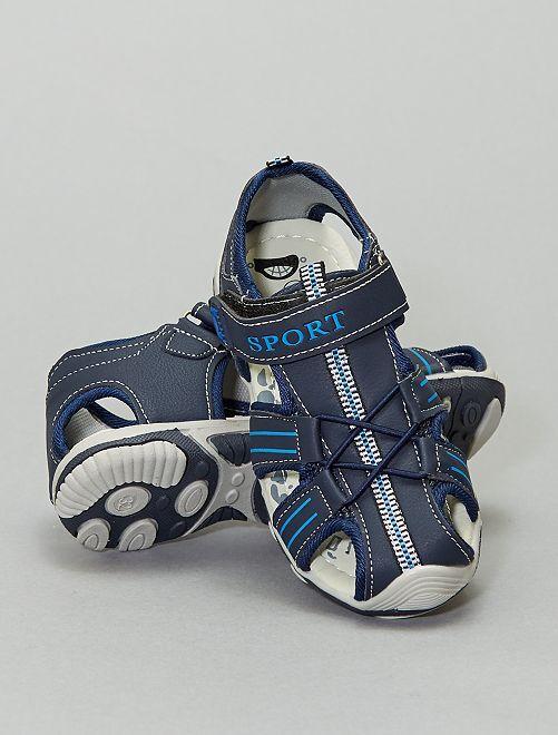 Sandales à scratch                             bleu marine