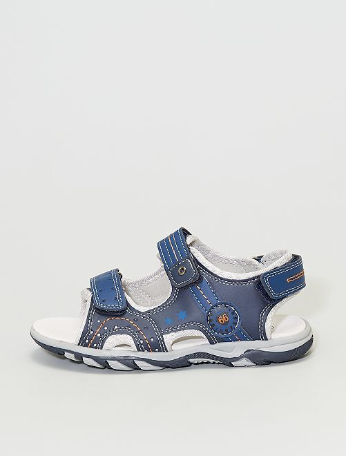 Sandales à scratch                             bleu navy