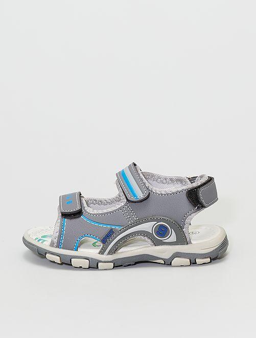 Sandales à scratch                             gris