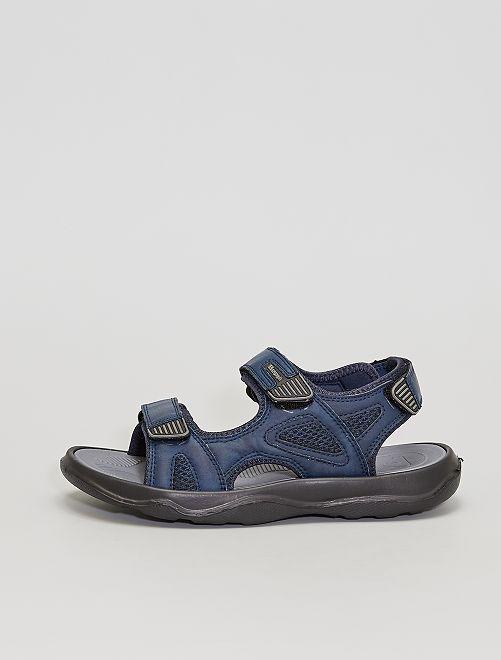 Sandales à scratchs                             bleu
