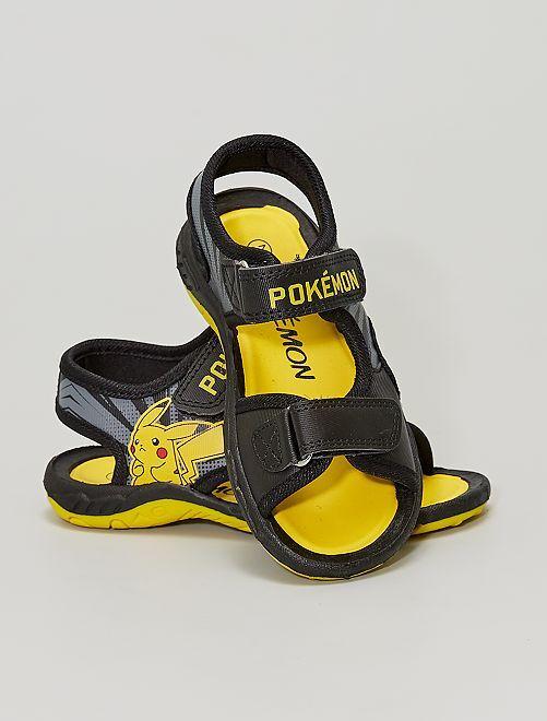 Sandales à scratchs 'Pokemon'                             noir/jaune
