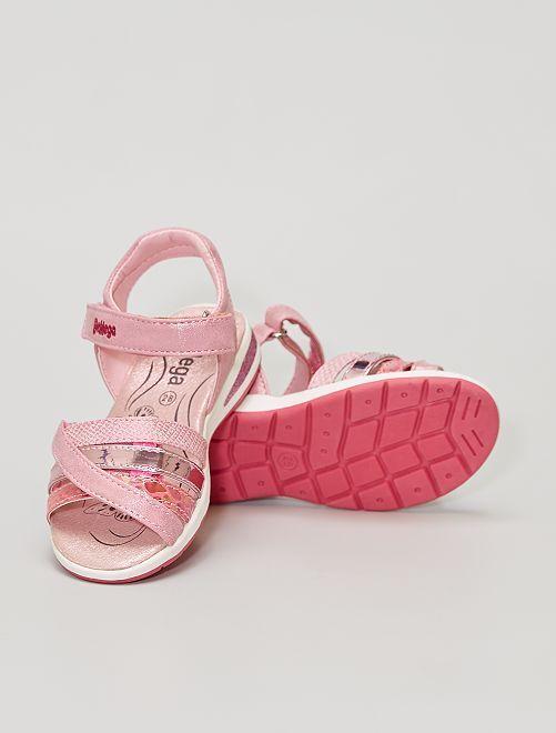 Sandales à scratchs                             rose