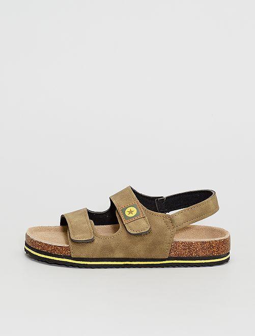 Sandales à scratchs                                         taupe