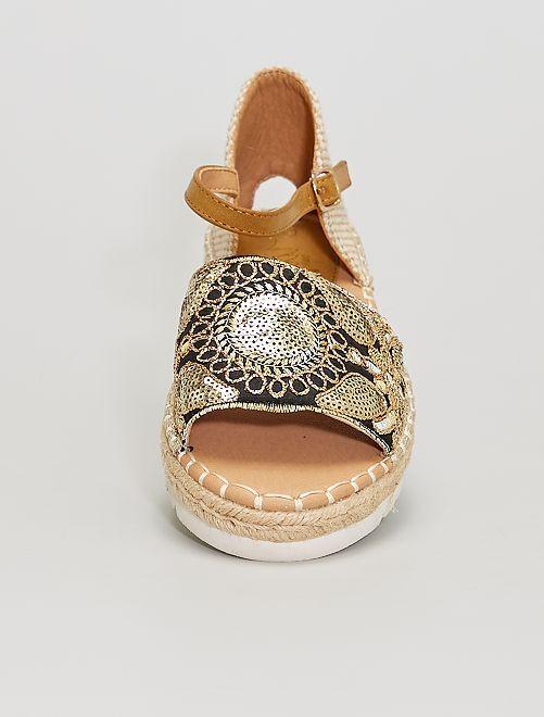 Sandales à sequins                             BEIGE