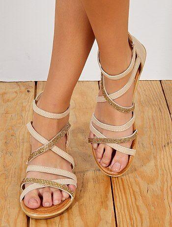 Soldes sandales plates femme originales et pas cher Vêtements femme ... 24303ff486e4