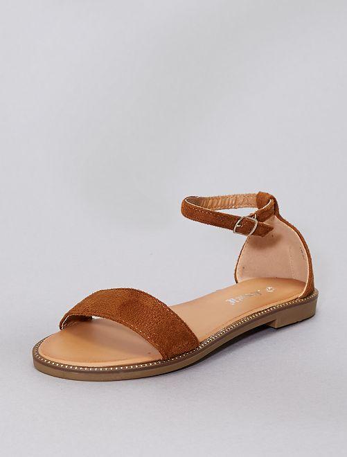 Sandales à strass                                                                             camel