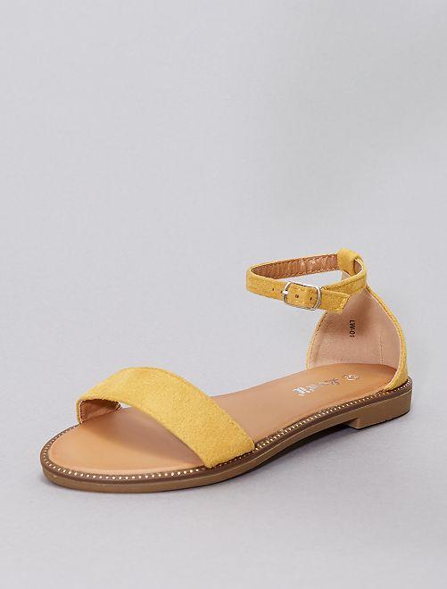 Sandales à strass                                                                             jaune