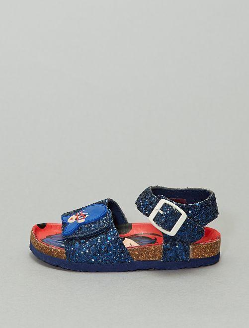 Sandales à strass 'Miraculous'                             bleu