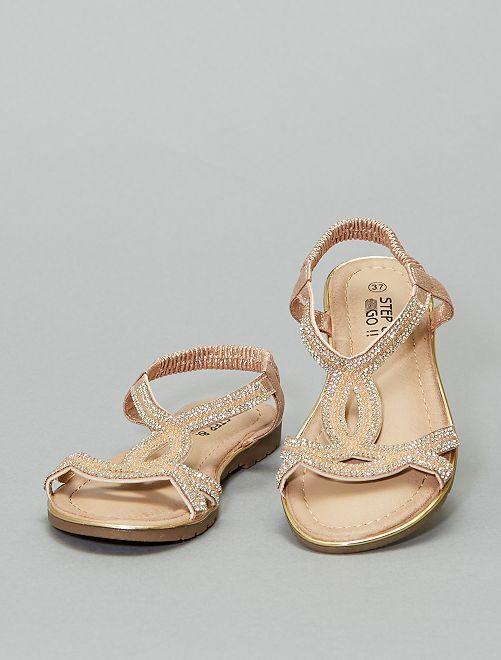 Sandales à strass                             rose