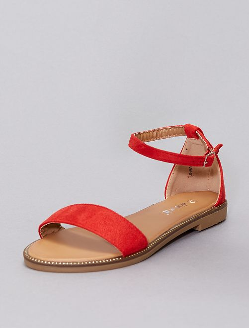 Sandales à strass                                                                             rouge