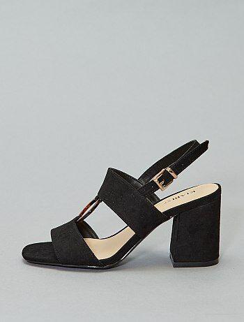a9d513513063ee Soldes sandales à talons femme pas chères Chaussures | Kiabi