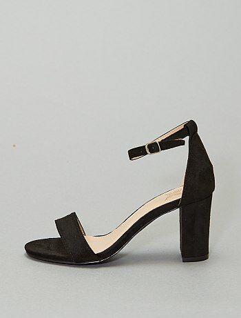 Sandales à talons en suédine