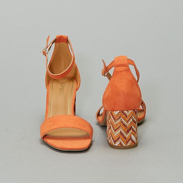 Sandales à talons Femme orange Kiabi 25,00€