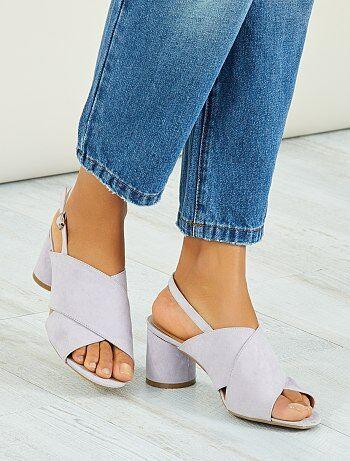 Chaussures - Sandales à talons ronds - Kiabi