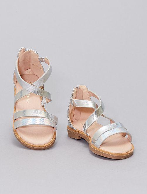 Sandales argentées                             argent