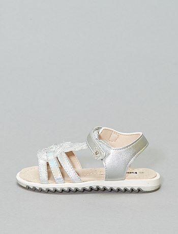 1e3db80a555c3 Sandales argentées  Beppi  - Kiabi