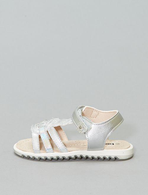 Sandales argentées 'Beppi'                             argent
