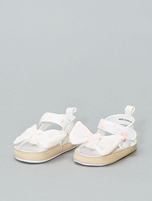 Sandales avec nœud                             blanc / orange Bébé fille