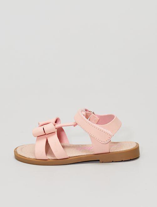 Sandales avec nœuds                             rose