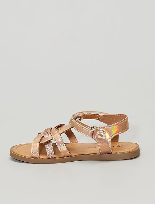Sandales avec paillettes                             rose