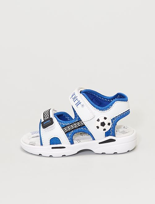 Sandales avec semelle en cuir                             blanc